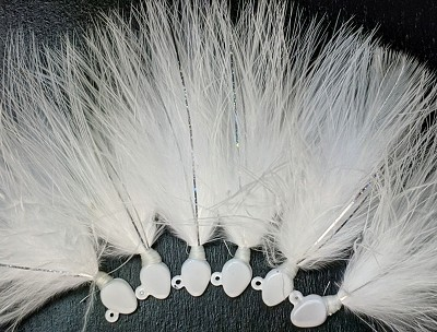 Custom tie - 1/16 oz All white marabou minnow